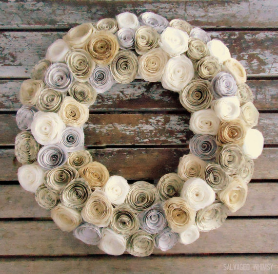 Coffee Filter Wreath mommahill