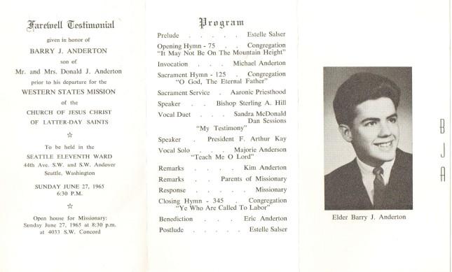 1965.11 Farewell Program (#38)
